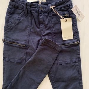 Joie Park Skinny Jeans Sz 23 Fatigue Blue Cropped